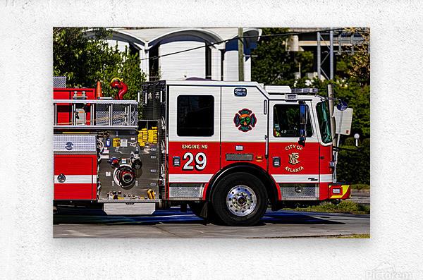 City of Atlanta Fire Engine No 29 6665  Metal print