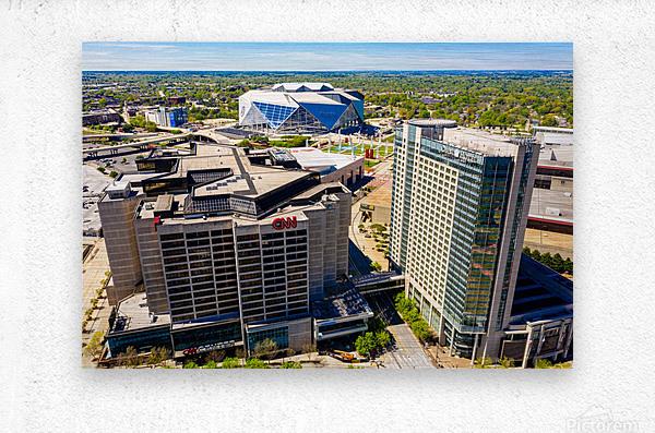 CNN Center Aerial View   Atlanta GA 0588  Metal print