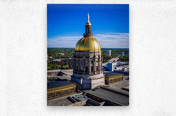 Georgia State Capitol Building   Atlanta GA 0636  Metal print