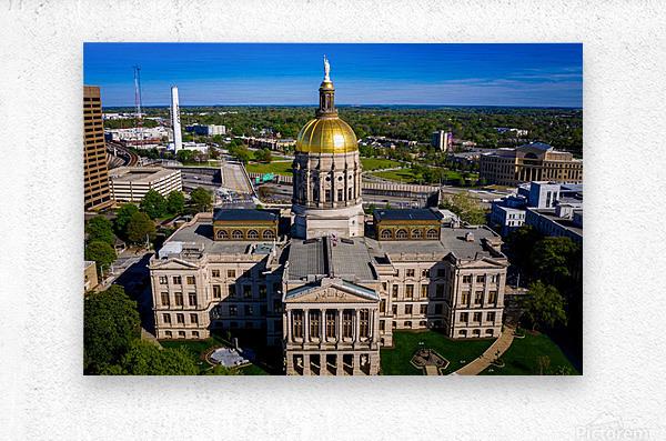 Georgia State Capitol Building   Atlanta GA 0639  Metal print