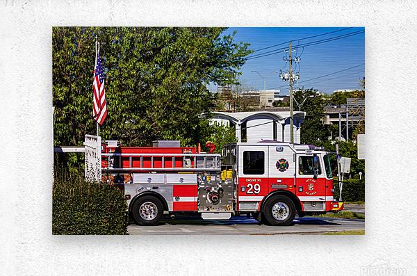 City of Atlanta Fire Engine No 29 6648  Metal print