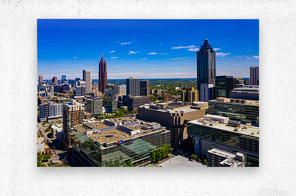 Downtown Atlanta Aerial View   Atlanta GA 0584  Metal print