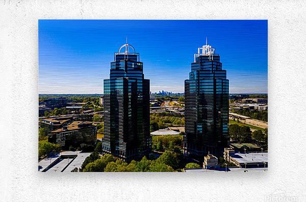 King and Queen Buildings   Atlanta GA 0556  Metal print