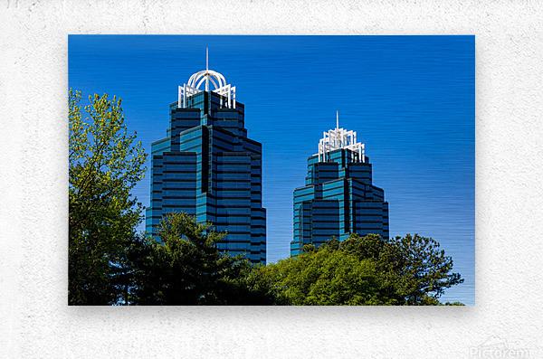 King and Queen Buildings   Atlanta GA 6686  Metal print