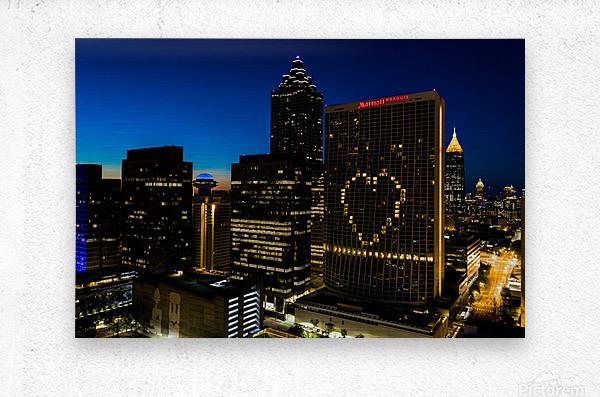 Marriott Marquis Aerial View   Atlanta GA 0660  Metal print