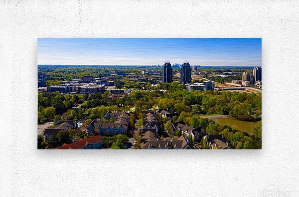 King and Queen Buildings Aerial View   Atlanta GA 0561  Metal print
