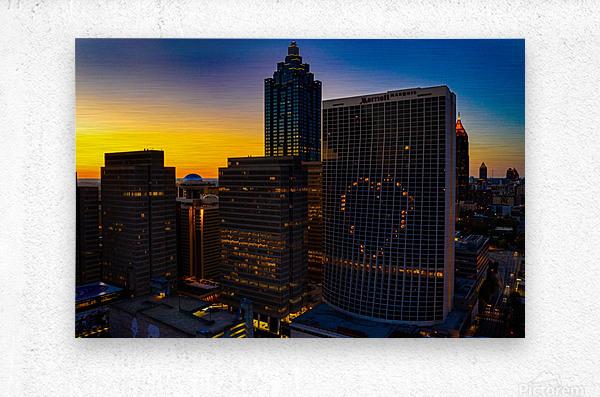 Marriott Marquis Aerial View   Atlanta GA 0650  Metal print