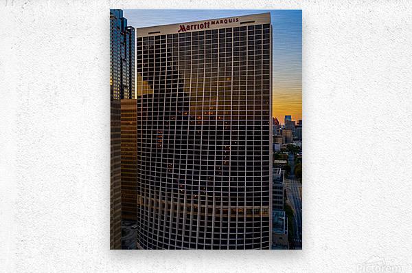 Marriott Marquis Aerial View   Atlanta GA 0644  Metal print
