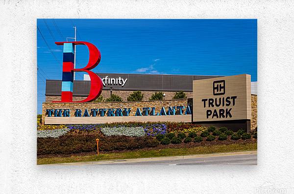 Truist Park   The Battery Atlanta GA 6703  Metal print