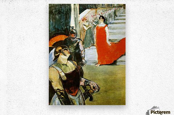 Messalina Descending by Toulouse-Lautrec  Metal print