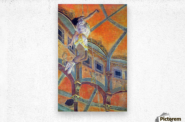 Miss Lala in Circus Fernando by Degas  Metal print