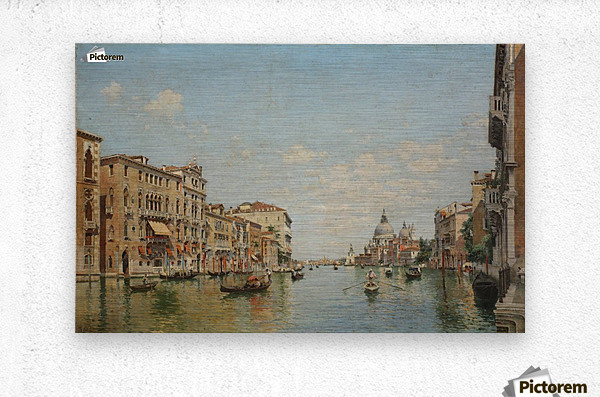 View of the Grand Canal of Venice  Metal print
