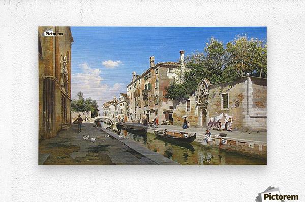 Canale San Giuseppe, Venezia  Metal print