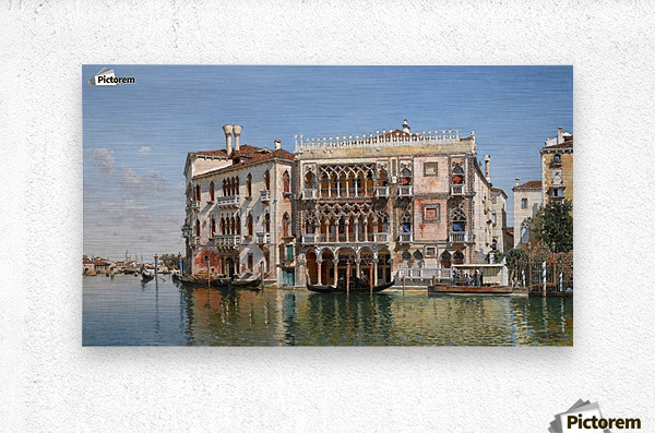 Along the Grand Canal in Venice  Metal print