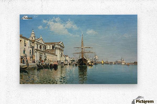 La Chiesa Gesuati from the Canale della Giudecca, Venice  Metal print