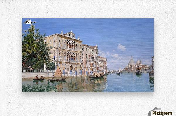 The Grand Canal Looking Towards Santa Maria Della Salute  Metal print