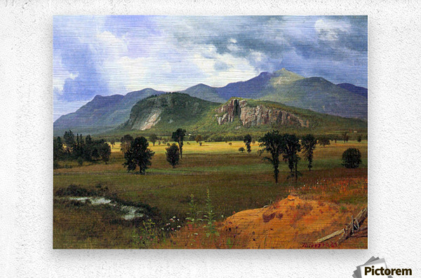 Moat Mountain, Intervale, New Hampshire by Bierstadt  Metal print