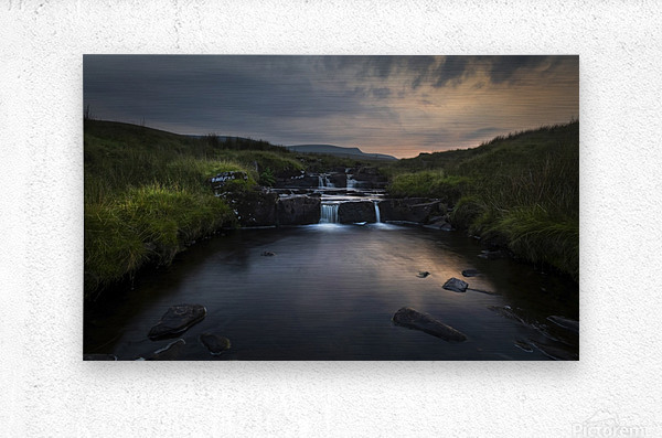 Dusk over the Brecon Beacons  Metal print