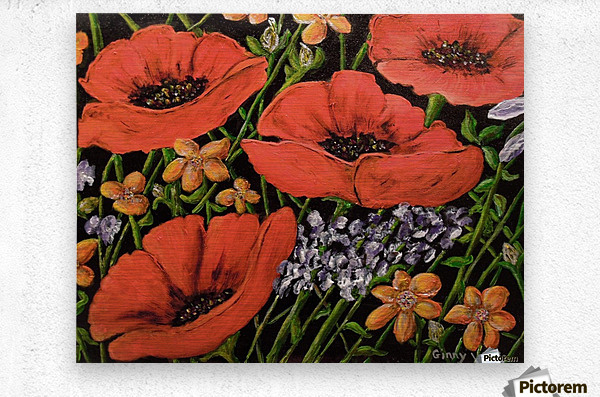 Four Poppies  Metal print