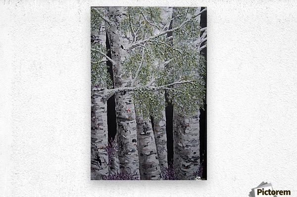 Snowdust in Spring  Metal print