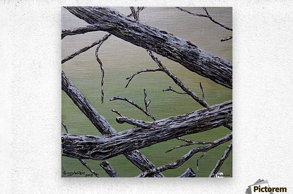 Branches Squared  Metal print