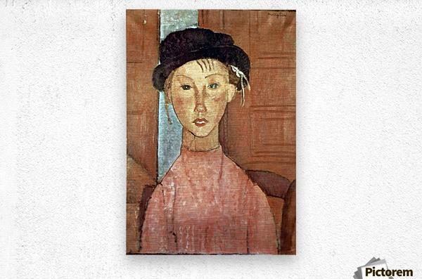 Modigliani - Girl with Hat  Metal print