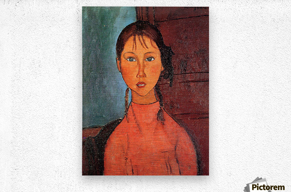 Modigliani - Girl with plaits  Metal print