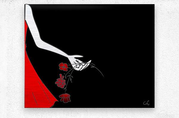 Dropping roses  Metal print