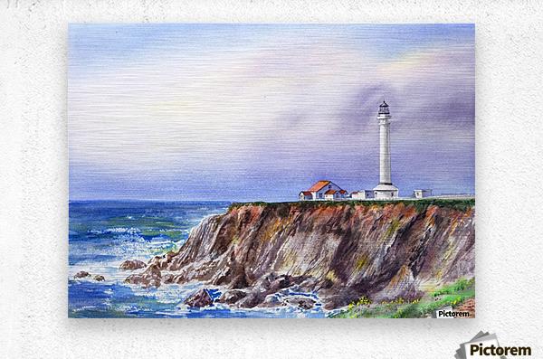 Lighthouse Point Arena California   Metal print