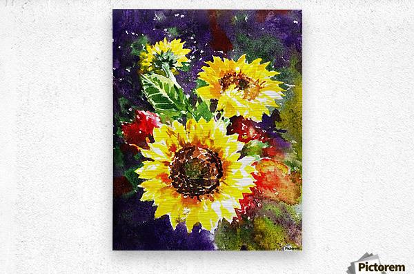 Impressionism And Sunflowers  Metal print
