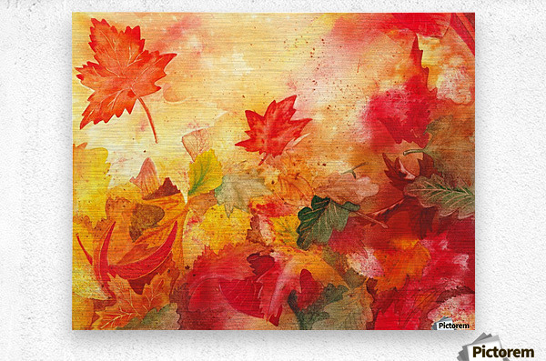 Autumn leaves Serenade   Metal print
