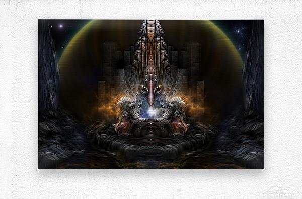 Path Of Shadows Fractal Fantasy Art  Metal print