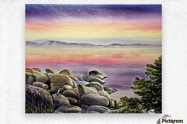 Purple Sunset At The Lake  Metal print