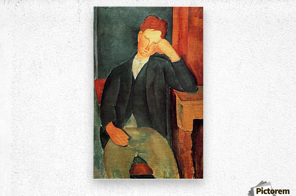 Modigliani - Peasant boy -2-  Metal print