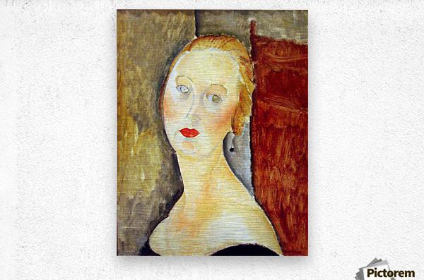Modigliani - Portrait de Germaine Survage  Metal print