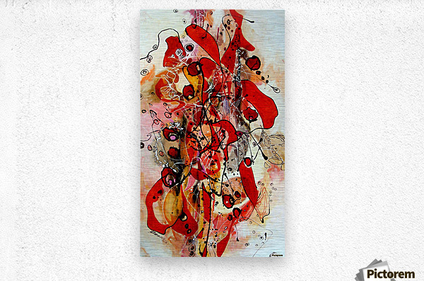 Magic red  Metal print