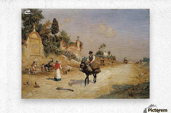 Sevilla, 1837  Metal print