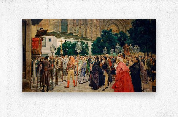Holy Week in Seville  Metal print