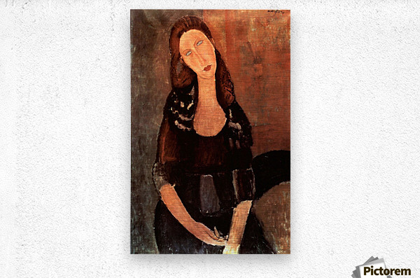 Modigliani - Portrait of Jeanne Hebuterne -3-  Metal print