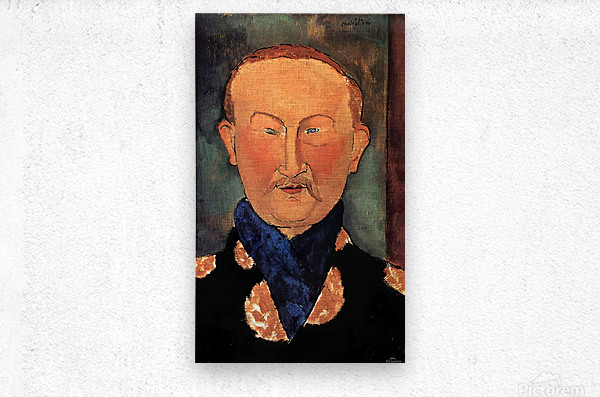 Modigliani - Portrait of Leon Bakst  Metal print