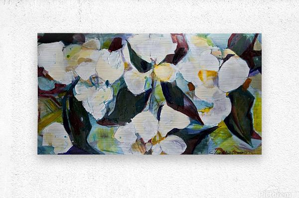 Louisiana Cubist Magnolia  Metal print