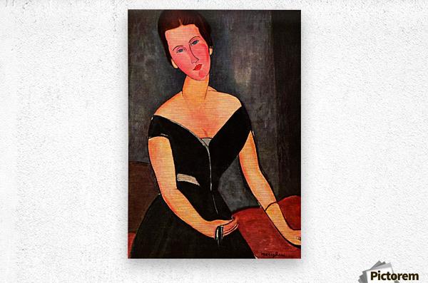 Modigliani - Portrait of Mrs van Muyden  Metal print
