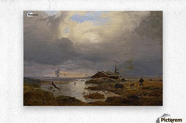 Skandinavische Landschaft  Metal print