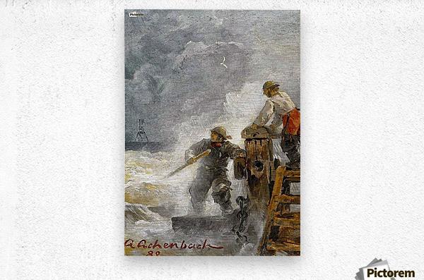 Stormy North Sea  Metal print