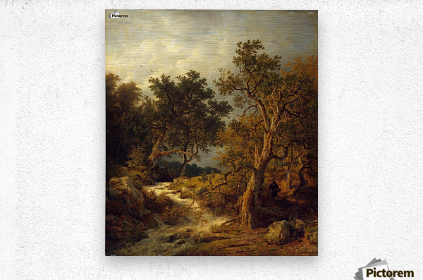 Landscape with a Stream  Metal print