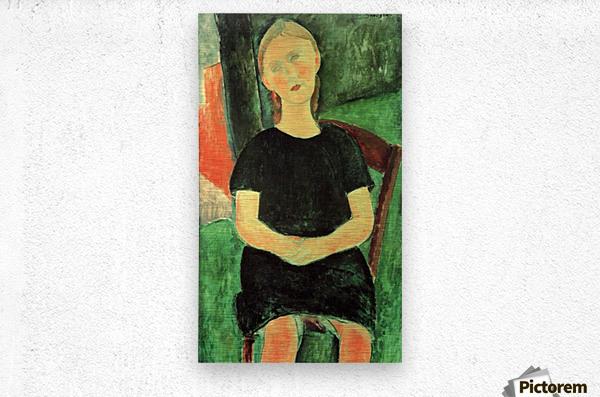 Modigliani - Sitting girl  Metal print