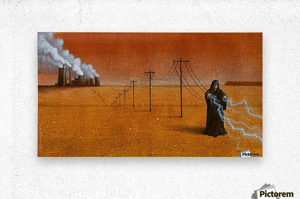 dark industry  Metal print