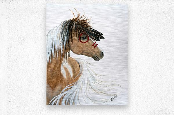 Majestic Pinto Horse  Metal print
