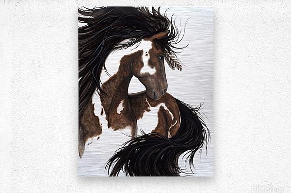 Pinto Horse  Metal print