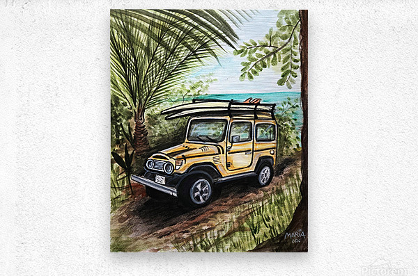 Collection COSTA RICA-Jeep  Impression metal